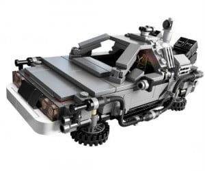 Back To The Future DeLorean Lego Set - Wait a minute, Doc. Ah… Are you telling me that you built a time machine… out of a Lego DeLorean?