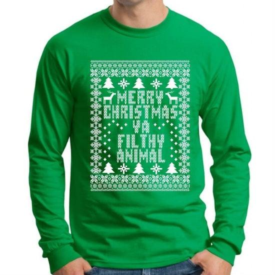 Merry Christmas Ya Filthy Animal Shirt Amazon 2