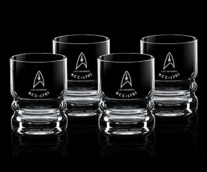 Star Trek Glassware Set – A toast to the captain of the U.S.S. Enterprise! Cheers!