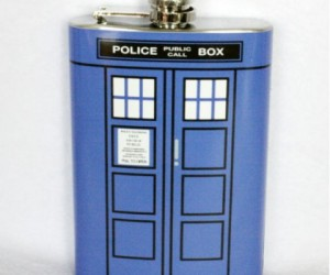 Doctor Who TARDIS Flask – Unfortunately it's not  bigger on the inside.