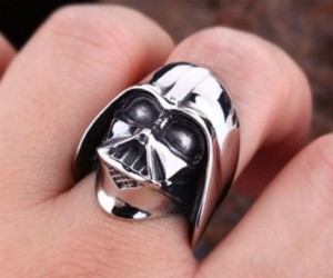 "Star Wars Darth Vader Ring – Ever look at Darth Vader's helmet and think ""That would make a beautiful piece of jewelry!"" Well, it turns out it does!"