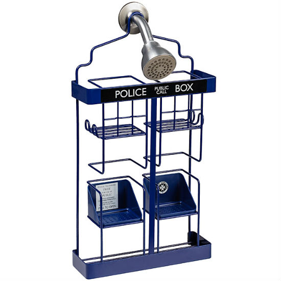 TARDIS shower rack