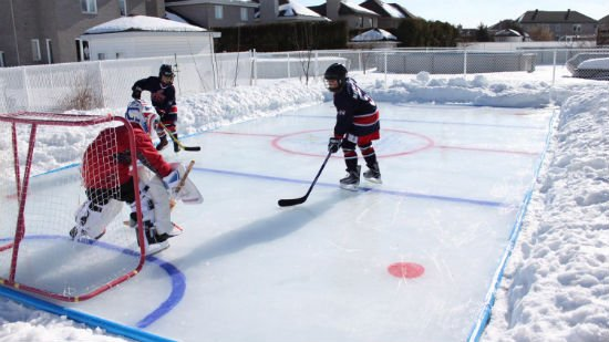 backyard ice rink kit shut up and take my money