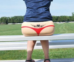 Sweet Cheeks Bleacher Tooshie Cushy – The perfect way to show off that butt.