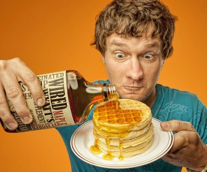 The purpose of breakfast is to energize us, so it only makes sense to caffeinate the maple syrup!