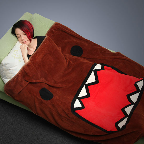 Domo Fleece Blanket   Don't worry about snuggling up with Domo-kun he (probably) won't eat you
