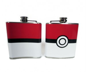 Pokeball Flask – Easily captures your favorite type of alcohol!