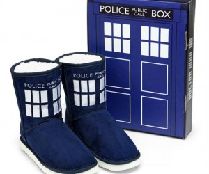 Doctor Who TARDIS Boot Slipper – Hopefully there's plenty of room for your toes inside!