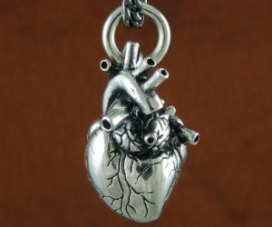 Anatomical Heart Necklace – With this she can literally wear your heart around her neck.