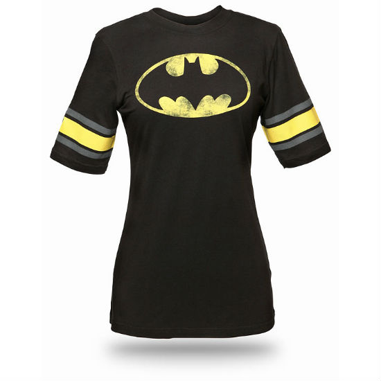 batman hockey babydoll tee