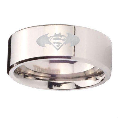 batman superman ring