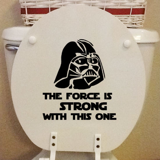 darth vader toilet seat decal