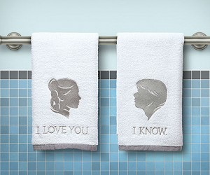 Star Wars I Love You I Know Hand Towels – Show your love to your significant other in hand towel form.