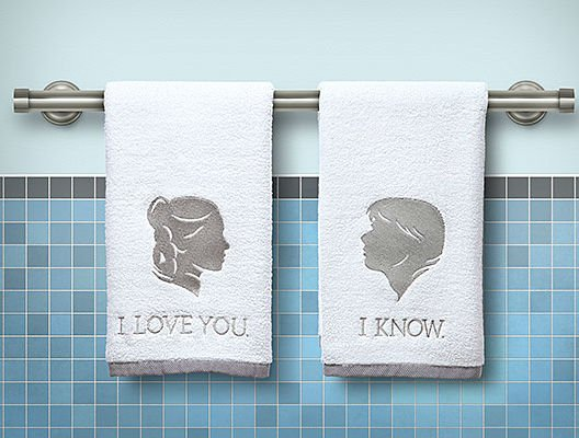 i love you i know hand towels