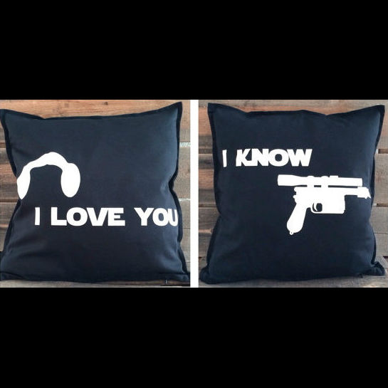 i love you i know throw pillows