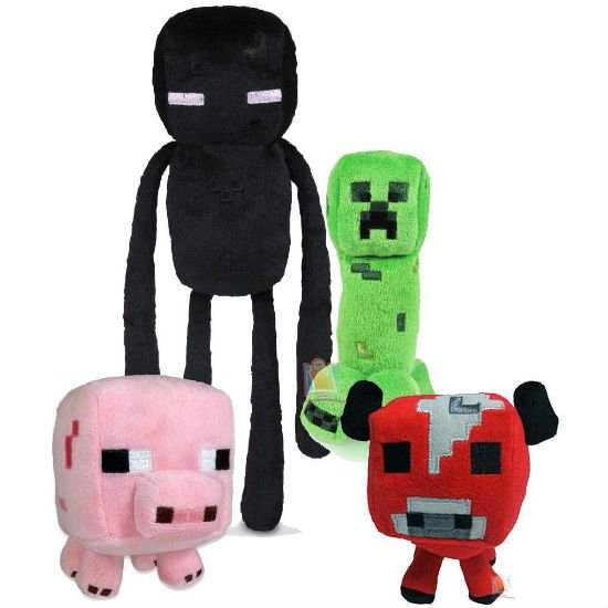 minecraft creatures plush set