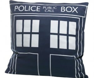 Doctor Who TARDIS Throw Pillow – Whoever thought a police call box could be so comfortable.