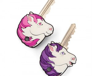 Mythical unicorns are great at opening up doors when their horns are shaped like keys!