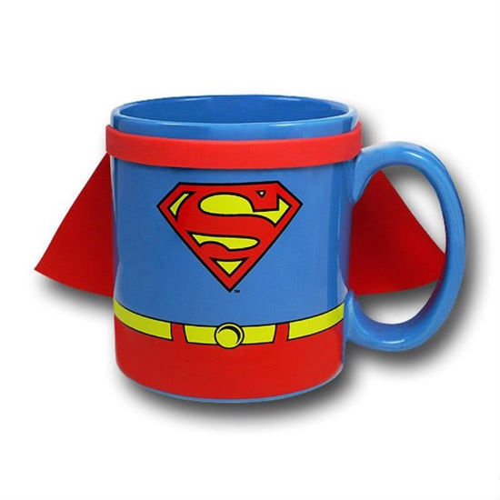 caped superman mug
