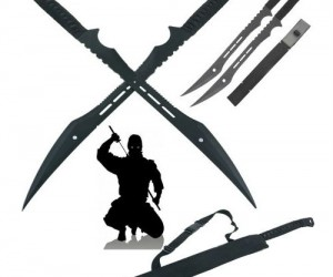 Double Ninja Swords w/ Sheath – How are you ever going to become a ninja without a sword or two?