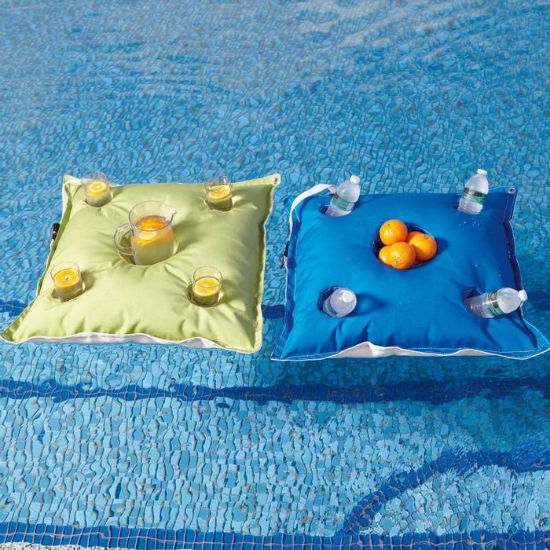 floating beverage caddy pillow