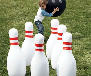You'll have some big time fun bowling with this set!