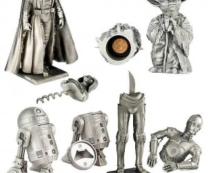 Star Wars Pewter Barware Set – Now all you need are some Bith musicians and you could open up your own Mos Eisley Cantina.