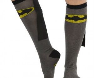 These are the socks Batman wears when he lounges around the Batcave!