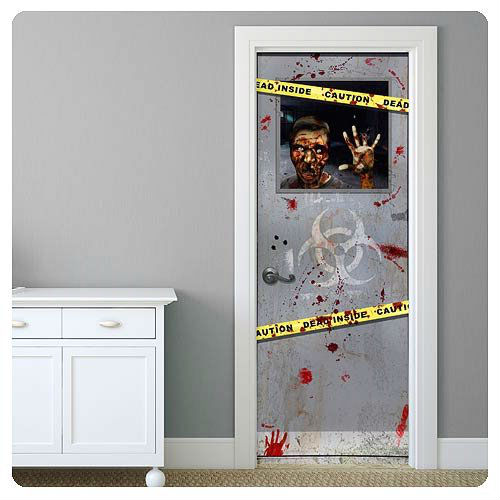 Zombie door decal