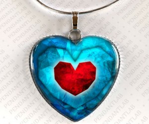 Legend Of Zelda Heart Container Necklace – May you find the other piece of your heart.