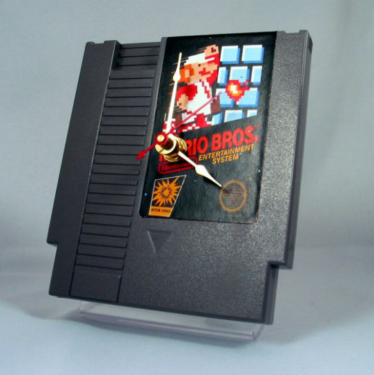 game cartridge clock