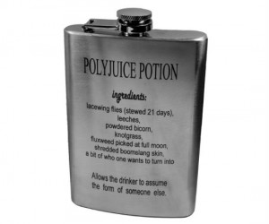 "Polyjuice Potion Flask – This may not change your appearance but with filled the right ""potion"" everyone around you is going to look a lot better."