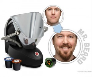 It's like a Keurig but for facial hair!