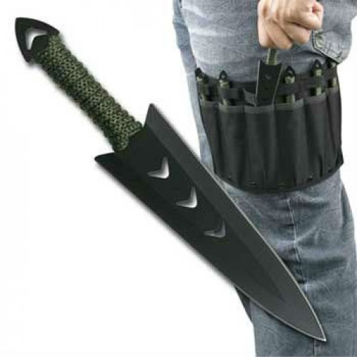 throwing knife set with leg holster