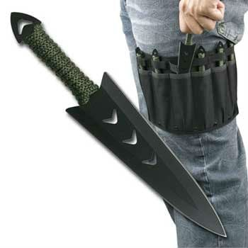 throwing knife with leg holster