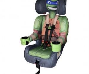 Teenage Mutant Ninja Turtles love kids, they'll even keep them protected during a car ride!