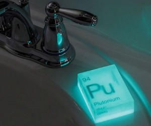 If you're a serious germaphobe, maybe some glowing nuclear themed soap will help you feel clean!