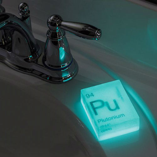 glow in the dark element soap