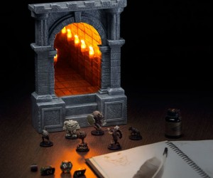 Desktop Endless Dungeon Corridor - Perfect for any lover of dungeons, corridors, infinity, D&D, or castles.