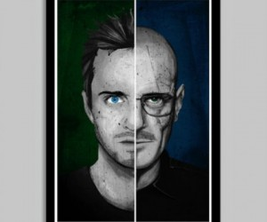 Breaking Bad Walter and Jessie Poster (24″ x 36″) – I am the Danger… bitch!