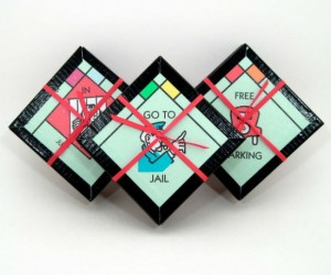 Monopoly Board Coasters – Do not pass the kitchen do not collect another beer.