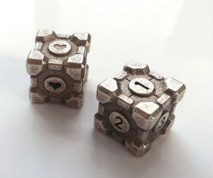 Portal Companion Cube Dice - Never be without your faithful Companion Cube!