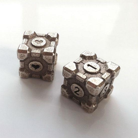 portal companion cube dice