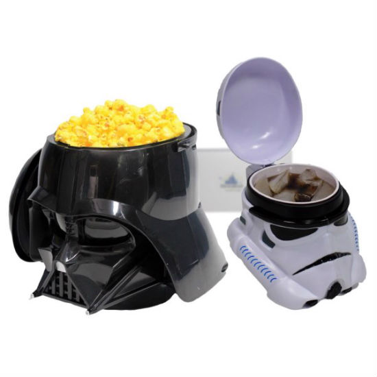 Darth Vader Popcorn Bucket and Stormtrooper Drink Set
