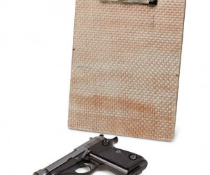Bulletproof Clipboard – Offering the most advanced protection in office supply defense, since the stapler.
