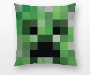 Minecraft Creeper Throw Pillow – Time for sssssllleeeeeeppp