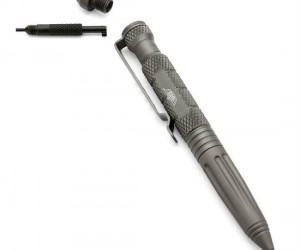 Uzi Tactical Defender Pen – Made from lightweight aircraft aluminum and features a glass breaker and cuff key!