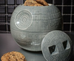 This Death Star Cookie Jar is fully armed and operational to house your most delicious cookies!
