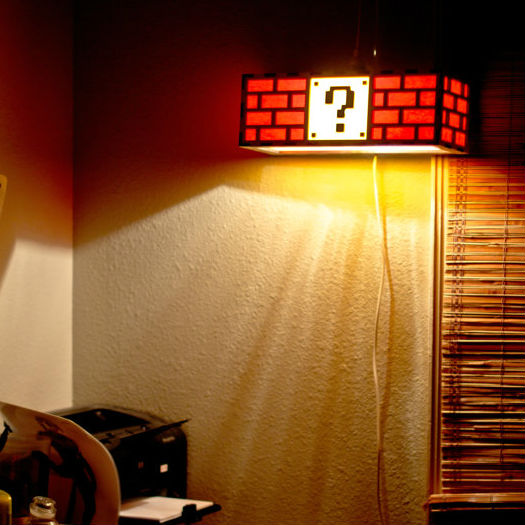 mario question box lamp