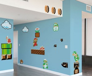 Nintendo Super Mario Wall Graphics – I can hear the Mario music already!